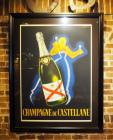 "French ""Champagne De Castellane"" Framed And Matted Poster, 54"" x 41"""