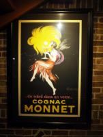 "French, ""Cognac Monnet Framed And Matted Poster, 54"" x 41"""