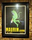 "French, Maurin Quina Framed And Matted Poster, 54"" x 41"""