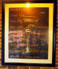 "Martini Framed and Matted Poster, 46"" x 38"""