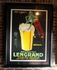 "French, Brasserie Lengrand Framed And Matted Poster, 54"" x 41"""