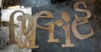 "Cut Steel ""Fooleries"" Individual Letter Sign"