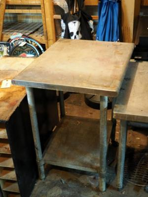 "Stainless Steel Prep Table, 36"" x 30"" x 23"", Contents Not Included"