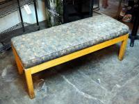 "Upholstered Wood Bench 19"" x 47"" x 19"""