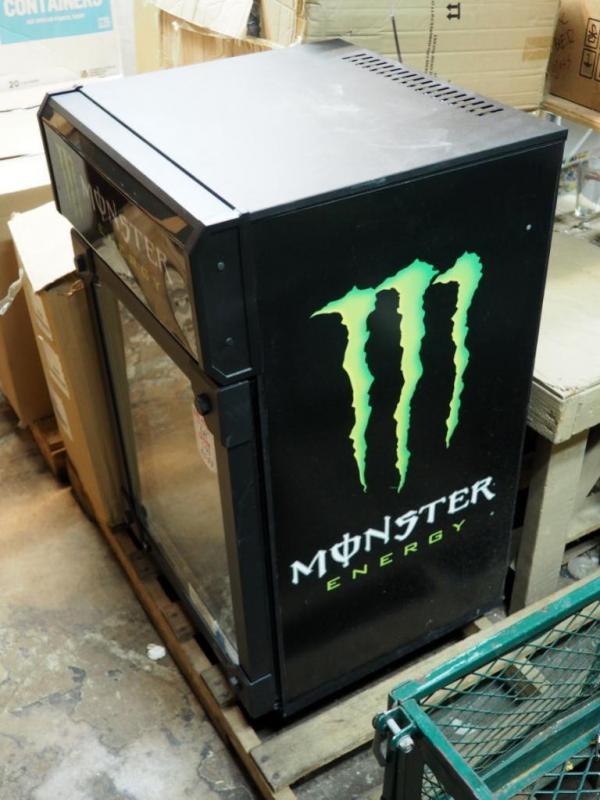IDW Electric Beverage Cooler, Monster Energy Drink Logo, 37