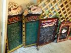 Italian Chef And Peters Chalk Menu Boards, Qty 4 And Latis Work