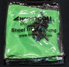 Westcott Masterpiece Sheet Background Green Screen/Chromakey, 10' X 12', With Clamps and Case