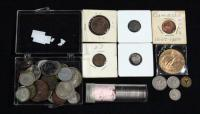 Collection of Foreign Coins, Includes Mexico, Canada, Roll of 12 Canadian Nickels