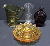 Glass Carafe, Decanter, Flask And Bowl