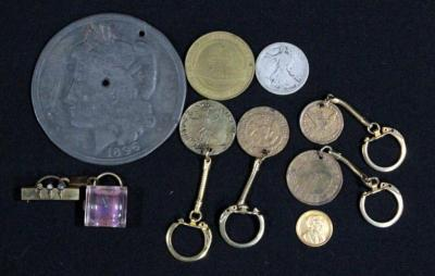 "1965 Golden Nugget 1 Dollar Coin, Henry Ford's ""Help The Other Fellow"" Coin, Pendant Watch And More"