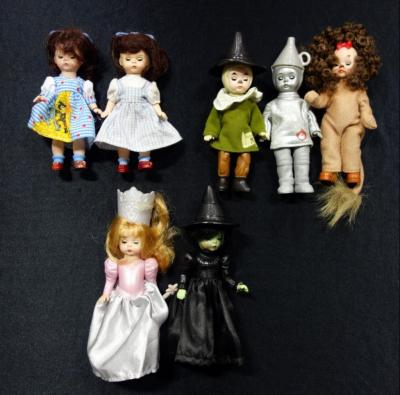2008 McDonalds Madame Alexander Wizard of Oz Dolls Including Dorothy (2), Good And Bad Witches, Scarecrow, Tin Man And Cowardly Lion, Total Qty 7