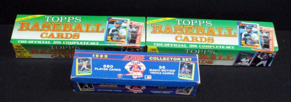 Topps Baseball Cards Official 1990 Complete Set Qty 2 1989 Score