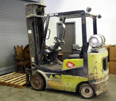 Clark Propane Fork Lift, Model #CGC20 Type LP, Truck Weight 8619