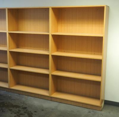 "6 Ft Adjustable Book Shelves With 3 Shelves, 72"" x 39"" x 12.25"", Qty 2, Bidder Responsible For Proper Removal, Mounted To Wall"