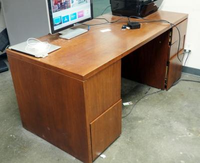 "Lunstead 5 Drawer Solid Wood Desk, 29"" x 66"" x 30"""