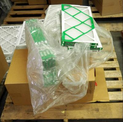 "Best Air Pro HVAC Air Filters 10"" x 20"" x 1"" Qty 17, 12"" x 24"" x 1"" Qty 11, 10"" x 19"" x 1"" Qty 20, Contents Of Pallet, Pallet Not Included"