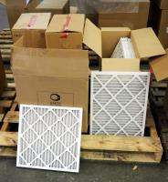 "Best Air Pro HVAC Air Filters 18""x 18"" x 1"" Qty 5 And 17"" x 22"" x 1"" Qty 5, 17"" x 24"" x 1"" Qty 11, 17 "" x 21"" x 1"" Qty 11, Contents Of Pallet, Pallet Not Included"