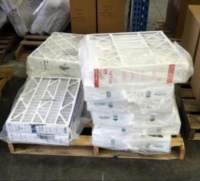 "Best Air Pro HVAC Air Filters 20"" x 20"" x 4"" Qty 1, 24"" x 25"" x 4"" Qty 5, 16"" x 25"" x 3"" Qty 2,  Contents Of Pallet, Pallet Not Included"