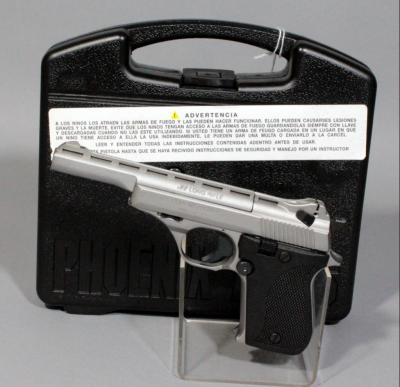 Phoenix Arms Model HP22A .22 LR Semi Automatic Pistol, SN# 4527414, With Case, Magazine and Paperwork