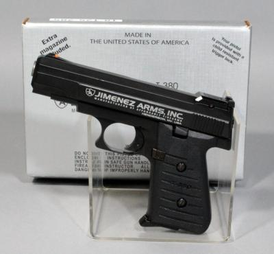 Jimenez Arms J.A. T-380 .380 Auto Semi Automatic Pistol, SN# 430753, With Box and Paperwork