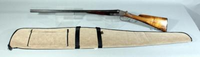1904 French Made 14 GA Or 17mm Black Powder Side By Side Shotgun, SN# 343, With Soft Case, See All Photos