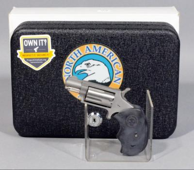North American Arms Model Model NAA-22MS .22 Magnum 5-Shot Revolver, SN# E375275, With Box, Safe, and Paperwork