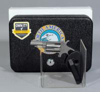 North American Arms Model Model NAA-22MS .22 Magnum 5-Shot Revolver, SN# E376211, With Box, Safe, Belt Clip and Paperwork
