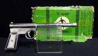 The 'GAT' Chrome Air-Pistol By T.J.H. & Son For Darts, Pellets, and Corks, With Original Box