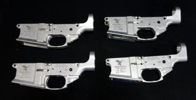Red Tail Model RTM-10 Aluminum Stripped Lower Receivers, SN# A01011, A01012, A01013, A01014, Total Qty 4