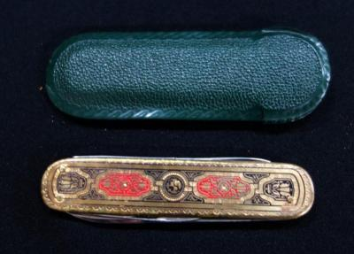 Puma Soligen Rosteri Engraved Three Bladed Pocket Knife With Case