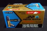 Aguila .22 Pistol Match Competition 40 GR Lead Bullet Ammo, Qty 500 Rounds, Local Pick Up Only