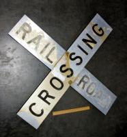 "Aluminum And Reflective Railroad Crossing Sign 48"" x 48"""