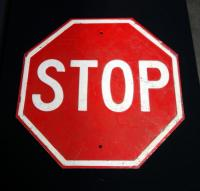 "Heavy Metal Octagonal Stop Sign, 23.5"" x 23.5"""