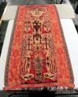 "Believed to Be JAVA SUMBA Ceremonial Tribal Blanket / Rug, Sacred Motifs, Natural Dyed Cotton, Woven And Stitched, 101""L x 42""W"