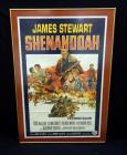 "Original Movie Poster ""Shenandoah"" With James Stewart, 1965 Poster Has Fold And Pin Marks, Museum Quality Framed & Matted, Framed Size 44.25"" x 30.25"""