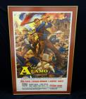 "Original Movie Poster ""The Alamo"" With John Wayne, 1960 Poster Has Fold & Pin Marks, Museum Quality Framed & Matted, Framed Size 44.25"" x 30.25"""