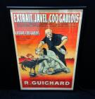 "WW1 ""Extrait de Javel le Coq Gaulois"" R. Guichard 1917 Anti-German French War Poster Print, Framed Size 25""W x 37""H"