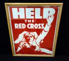 "WW1 ""Help The Red Cross"" War Poster Print By Herman Roeg, Frame Size 23""W x 30""H"
