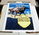 """A Good Start Is Half The Race"" Large Poster Print By Frank Mather, Unframed, 44""W x 60""H"