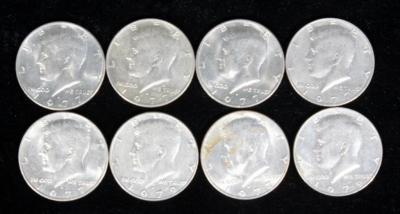 (6) 1977 and (2) 1979 Kennedy Half Dollars