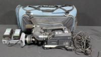 "Sony XDCAM HD Professional Camcorder Camera With Canon HDGC KH16eX5.7 Lens, Cords, 2 Batteries With Docking Station, Two Dynamic Mics And Charger, ""V"" Battery Adaptor, Tripod Mount (No Tripod)"