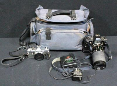 Pentax Model LX Film Camera With Tamron SP 35-210mm Lens, Bag And More