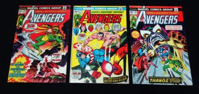 The Avengers 116, 117, 125 Thanos VG/FN, Qty 3