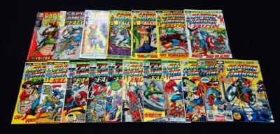 Captain America 118, 135, 143, 146, 150, 152, 154, 162, 166, 169, 178, 180, 183, 192, 193, 197, 199, 237 VG to VG+, Qty 18